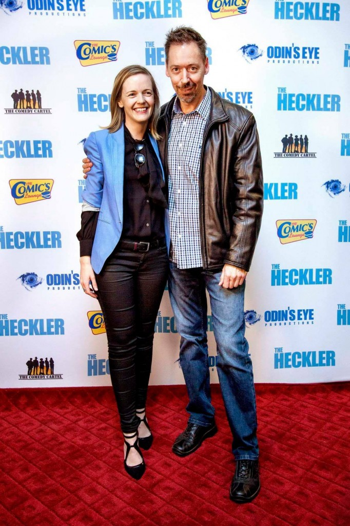 "On the red carpet with Producer Steve Mitchell at the premiere of ""The Heckler"""