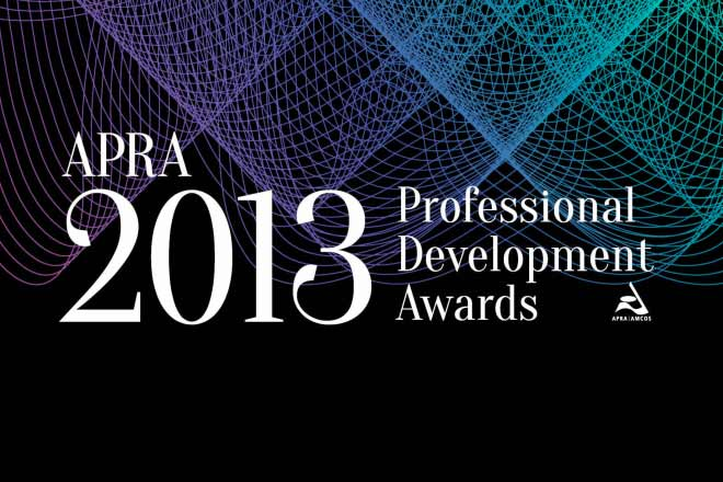 Amy Bastow named as a 2013 APRA Professional Development Awards finalist