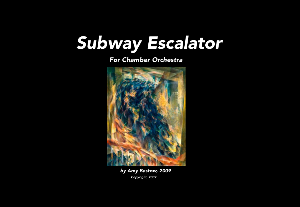 Subway Escalator: Score Title Page