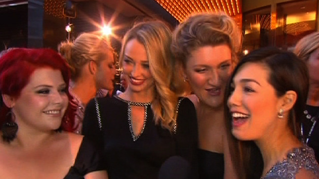 The Winners and Losers Girls at the Logie Awards