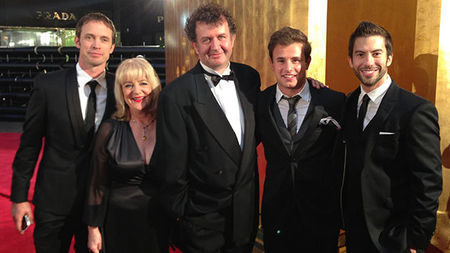 Zach, Trish, Brian, Patrick and Jonathan at the Logie Awards