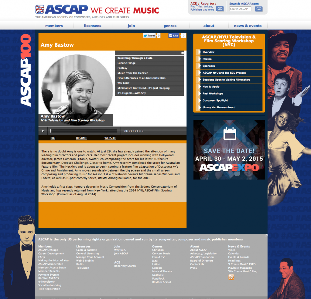 ASCAP - Composer To Watch
